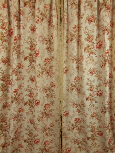 cretonne curtains b456 s sublime pair antique french cretonne curtains