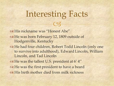 facts about todd lincoln in the of abraham lincoln ppt