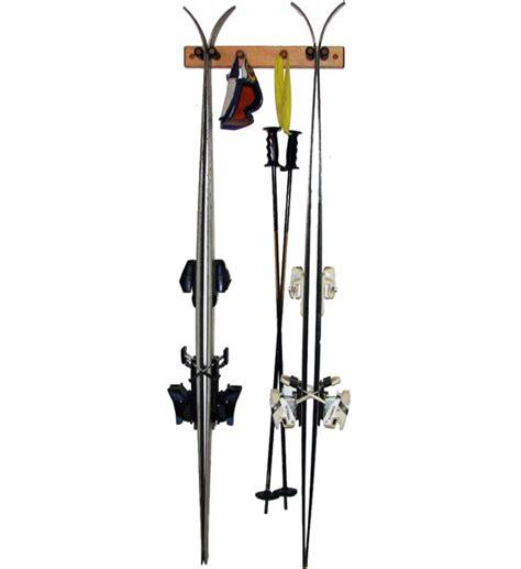 Wooden Ski Rack by Wooden Ski Rack Vertical Pine In Sports Equipment Organizers