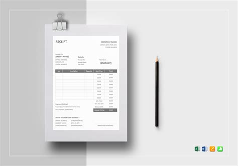 receipt template for apple pages simple receipt template in word excel apple pages numbers