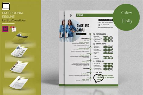 profesional resume template in resume templates on yellow