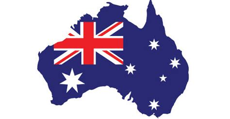 Home Decoration Software Free Download by Australien Karte Mit Fahne Freie Vektor Cliparts