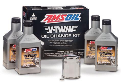 Harley Davidson Change by Amsoil V Change Kit For Harley Davidson Motorcycle