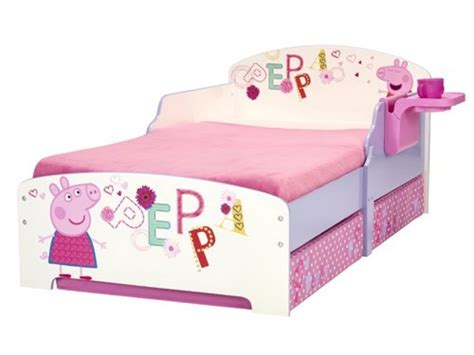 peppa pig toddler bedding peppa pig storytime toddler bed with under bed storage and bedside table