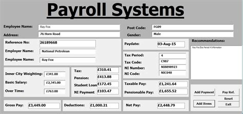 online tutorial vba excel how to create payroll systems in excel using vba