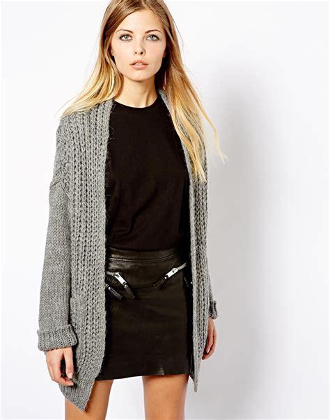Sweater Cardigans 11 chunky grey cardigan sweater vest