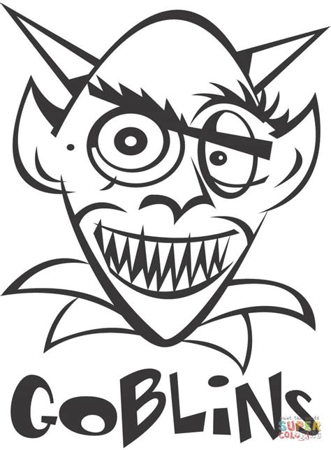 Goblin coloring page | Free Printable Coloring Pages