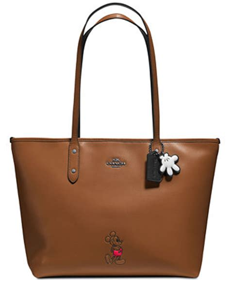 Coach City Tote Sign Saddle 6 coach mickey city tote in calf leather handbags