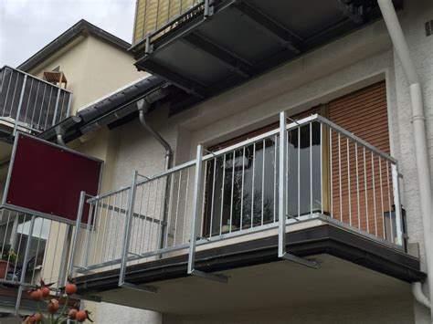 balkongeländer stahl balkongel 228 nder aus feuerverzinktem stahl metallbau