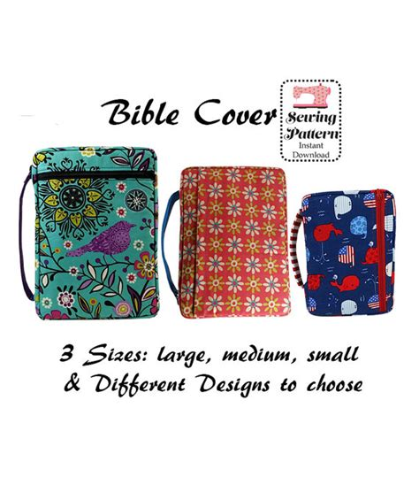 Sewing Pattern For Zippered Bible Cover | bible cover sewing pattern zippered bible case book cover