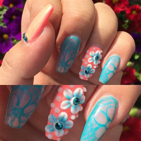 colorful acrylic nails 30 3d acrylic nail designs ideas design trends