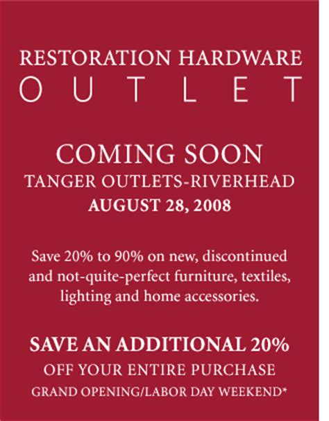 riverhead outlet printable coupons restoration hardware outlet coming to long island
