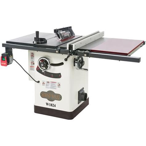 hybrid table saws shop fox w1824 hybrid table saw w extension table