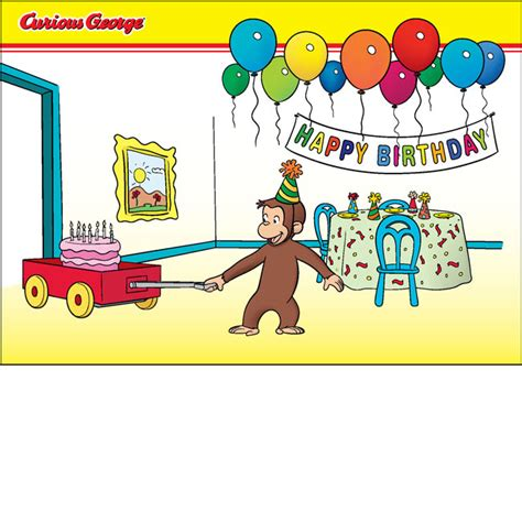 Curious George Birthday Card Birthday Party Card New Cg Product
