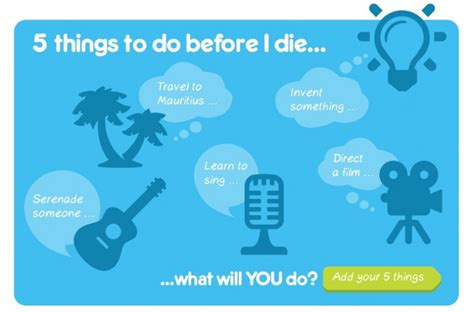 5 things to do before you die dying matters