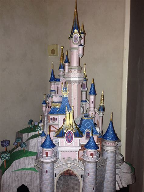 Sleeping Castle Papercraft - disney dreams on paper model the sleeping castle