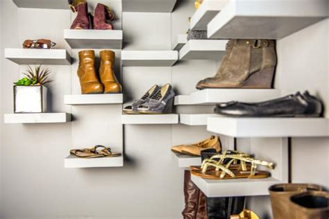 shoe storage display shelves  tos diy