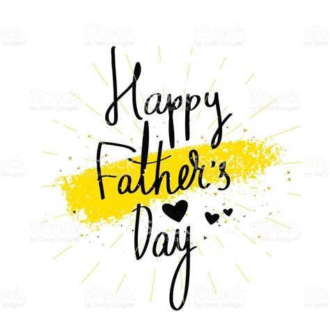 Happy Fathers Day by Happy Fathers Day Calligraphy Stock Vector 645860934