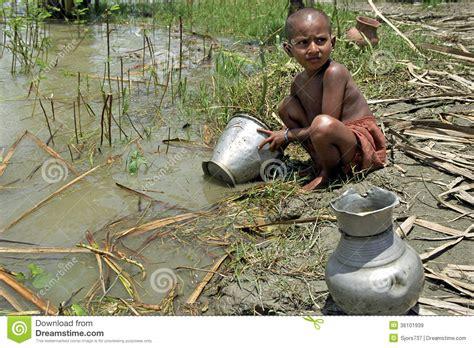 Kitchen Gadgets In Bangladesh Portrait Of Bangladeshi Wash In River Editorial