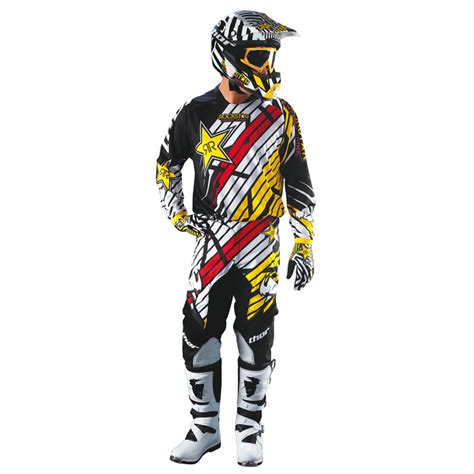 second motocross gear thor mx gear 2013 phase rockstar combo youth car