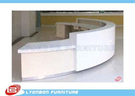 student information desk commercial white mdf arc reception desk for service