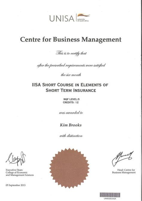 Mba Unisa Subjects by Project Management Certificate Unisa Best Design