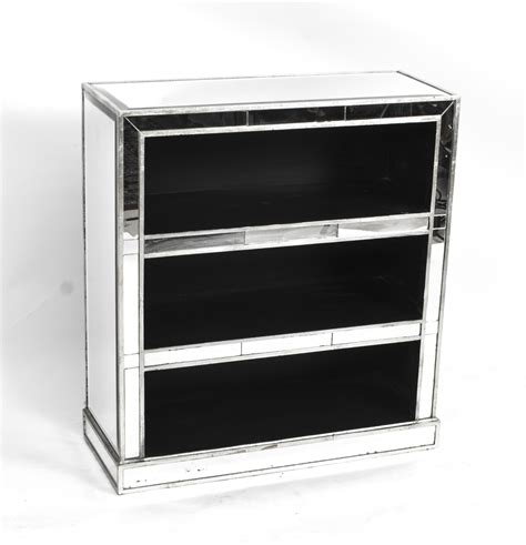 attractive deco mirrored bookcase deco mirrored