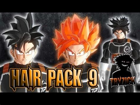 hairstyles xenoverse mod dragonball xenoverse 2 hair pack 9 mod tryzick youtube