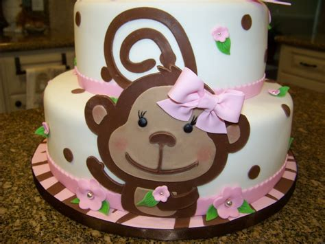 Baby Monkey For Baby Shower by Monkey Themed Baby Shower Cake For A Baby