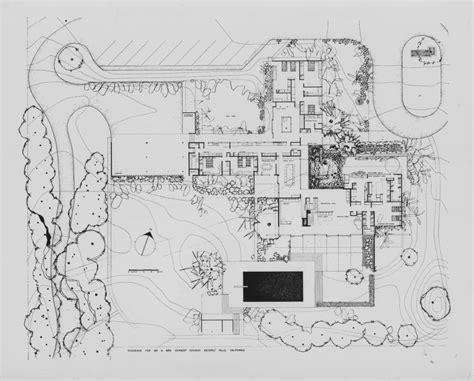 Richard Neutra Kronish Plan Modern Architecture Sketches Neutra House Plans