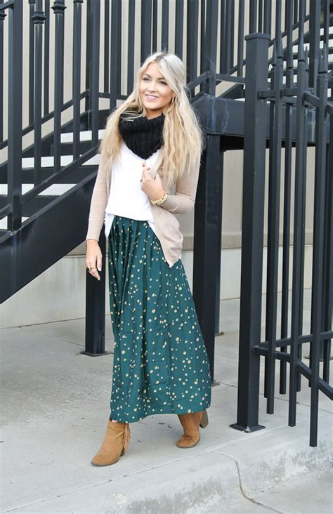 wearing boots with skirts