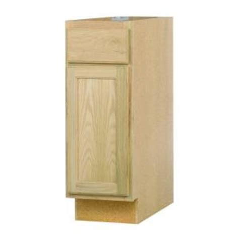 unfinished oak kitchen cabinets home depot 12x34 5x24 in base cabinet in unfinished oak b12ohd the