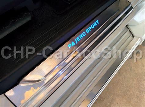 Sill Plate Led Sing All New Pajero 2016 Door Sill Scuff Plate Led Mitsubishi Pajero Montero Sport