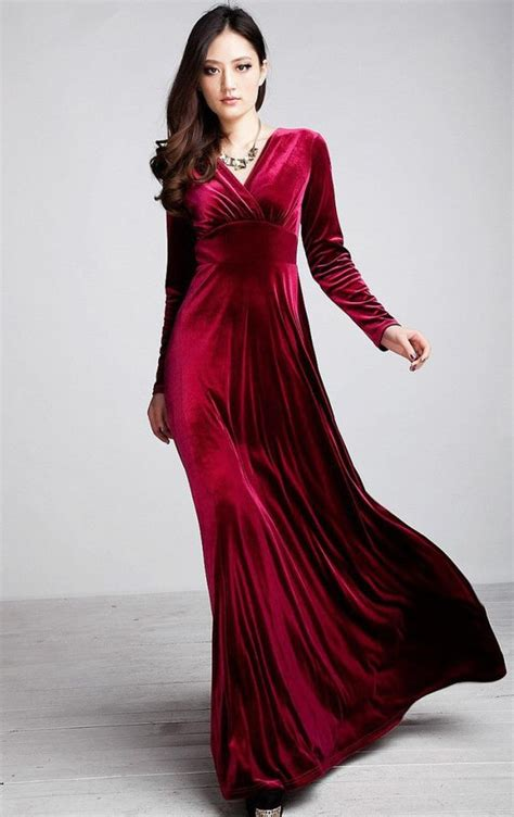 Longdress Velvet sleeve velvet maxi dress sleeve maxi dresses and