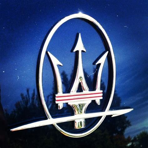 maserati trident car attention to detail maserati trident emblem badge
