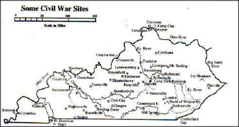 kentucky map civil war kentucky history
