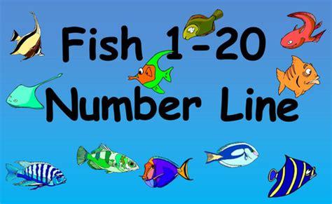 printable number washing line fish 1 20 number line by bestprimaryteachingresources