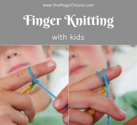 knit finger finger knitting for an easy diy tutorial the