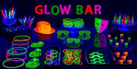 glow party decoration ideas ciij