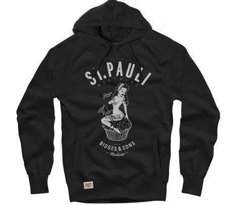 Hoodie St Pauli 3 bidges sons fair fabrics designed in st pauli