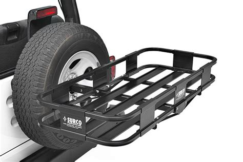 Spare Tire Cargo Rack by Surco Spare Tire Cargo Basket Free Shipping