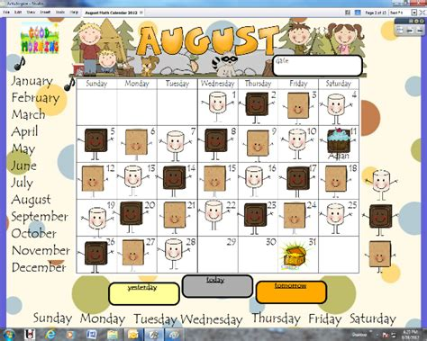 pattern games for kindergarten smartboard lanier s lions calendar time