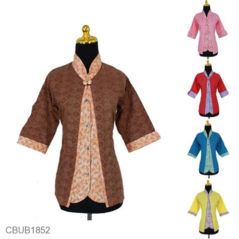 Blus Batik Merak baju batik blus tanggung 3 4 kombinasi motif sayap burung