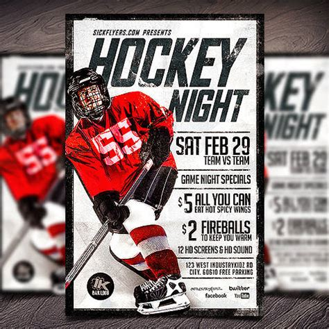 hockey flyer template photoshop flyers psd flyer templates flyer designs