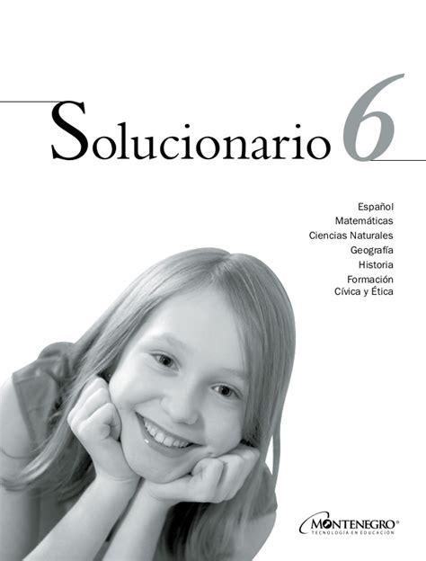solucionario del libro sep quinto grado ciencias naturales solucionario 6 grado de primaria