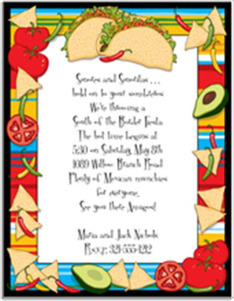 Fiesta And Mexican Party Invitations Fiesta And Mexican Stationery Taco Invitation Template