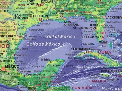 map of gulf of mexico major cities around the gulf of mexico gulf of mexico maps gulf of mexico maps