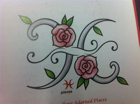 real rose tattoos pisces a top cartoony for my taste