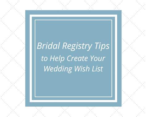 bridal registry tips