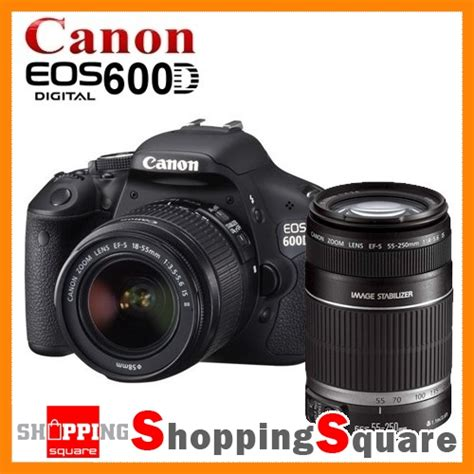 Kamera Dslr Canon Eos 600d Kit Lensa 18 55mm Is new canon eos 600d lens kit 18 55mm ii 55 250mm
